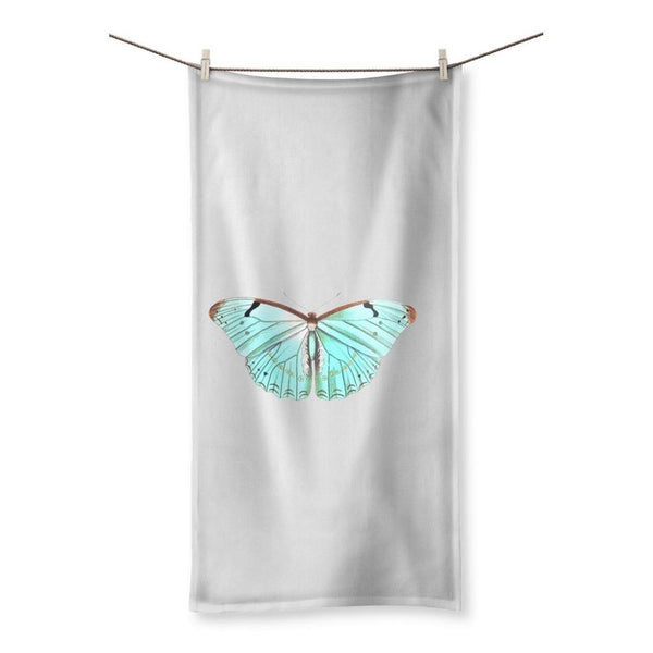 Baby Green Butterfly Beach Towel 19.7X39.4 Homeware