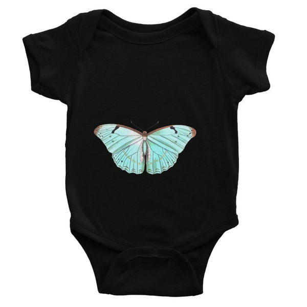 Baby Green Butterfly Bodysuit 0-3 Months / Black Apparel