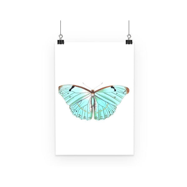 Baby Green Butterfly Poster A3 Wall Decor