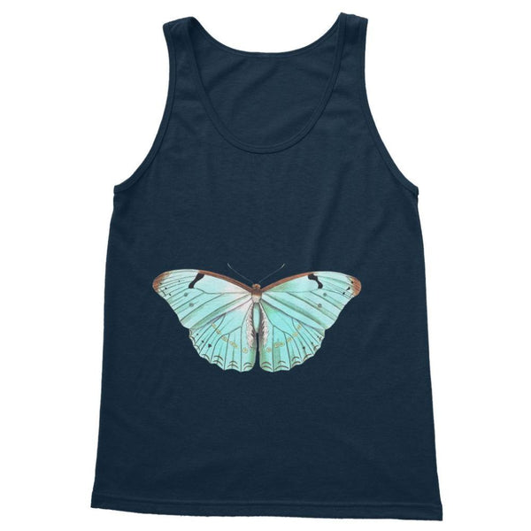 Baby Green Butterfly Softstyle Tank Top S / Navy Apparel