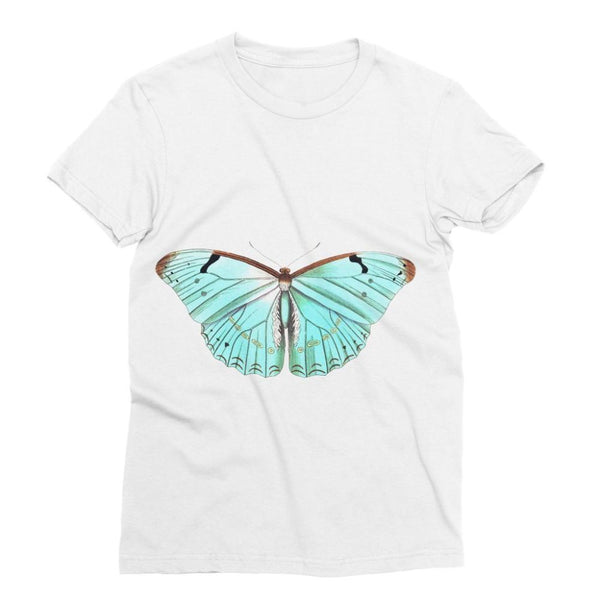 Baby Green Butterfly Sublimation T-Shirt S Apparel