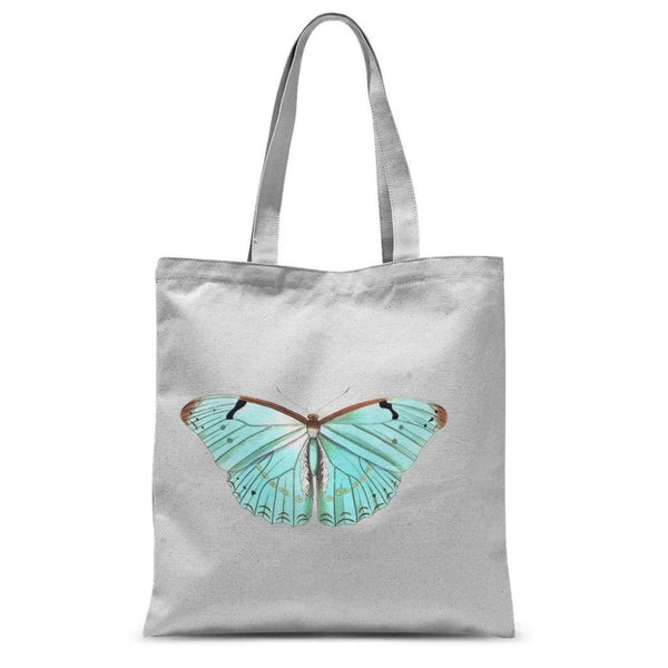 Baby Green Butterfly Sublimation Tote Bag 15X16.5 Accessories