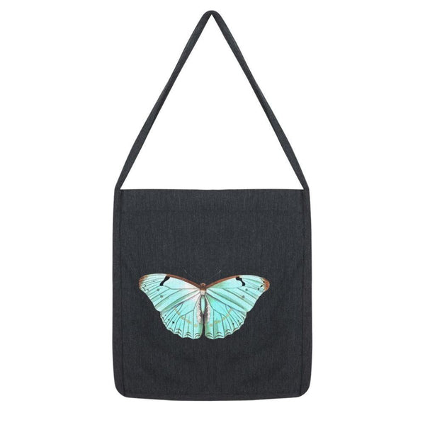 Baby Green Butterfly Tote Bag Melange Black Accessories