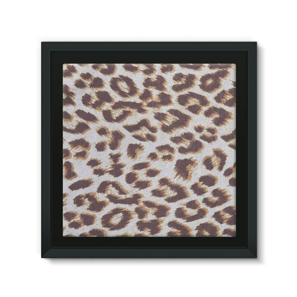 Background Of Animal Print Framed Canvas 12X12 Wall Decor