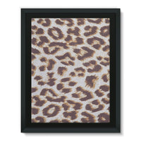 Background Of Animal Print Framed Canvas 12X16 Wall Decor
