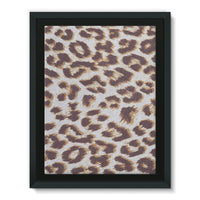 Background Of Animal Print Framed Canvas 24X32 Wall Decor