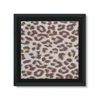 Background Of Animal Print Framed Eco-Canvas 10X10 Wall Decor