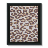 Background Of Animal Print Framed Eco-Canvas 11X14 Wall Decor