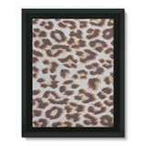 Background Of Animal Print Framed Eco-Canvas 18X24 Wall Decor