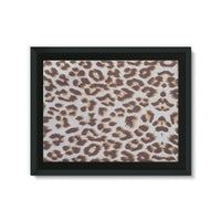 Background Of Animal Print Framed Eco-Canvas 24X18 Wall Decor
