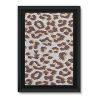 Background Of Animal Print Framed Eco-Canvas 24X36 Wall Decor