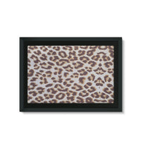 Background Of Animal Print Framed Eco-Canvas 36X24 Wall Decor