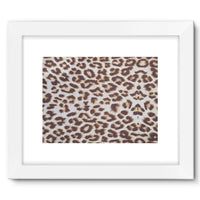 Background Of Animal Print Framed Fine Art Print 16X12 / White Wall Decor
