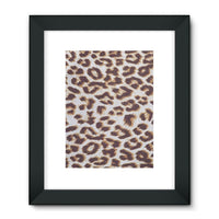 Background Of Animal Print Framed Fine Art Print 18X24 / Black Wall Decor