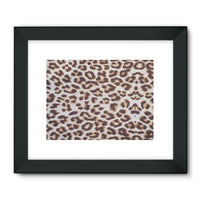 Background Of Animal Print Framed Fine Art Print 24X18 / Black Wall Decor