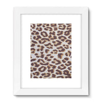 Background Of Animal Print Framed Fine Art Print 24X32 / White Wall Decor