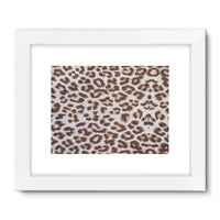 Background Of Animal Print Framed Fine Art Print 32X24 / White Wall Decor