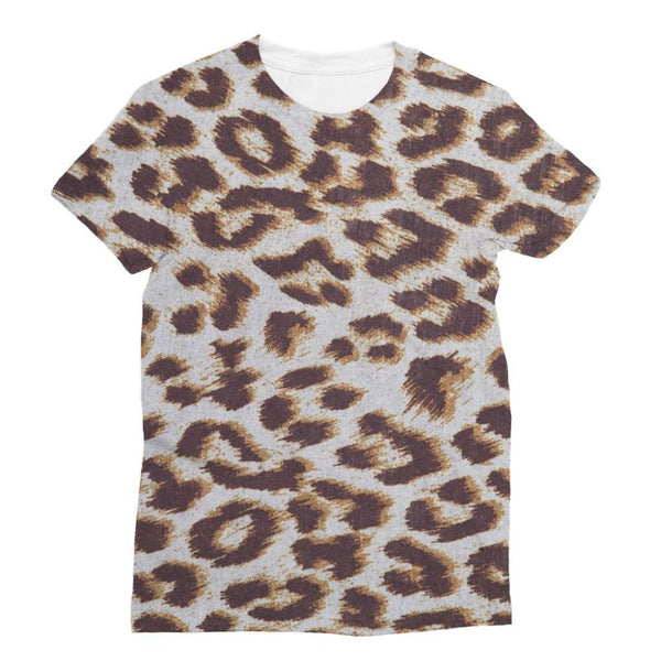 Background Of Animal Print Sublimation T-Shirt S Apparel