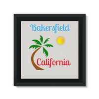 Bakersfield California Framed Canvas 12X12 Wall Decor