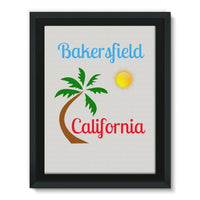 Bakersfield California Framed Canvas 12X16 Wall Decor