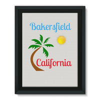 Bakersfield California Framed Canvas 18X24 Wall Decor