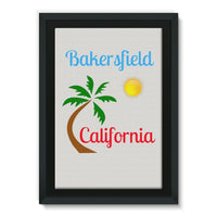 Bakersfield California Framed Canvas 24X36 Wall Decor