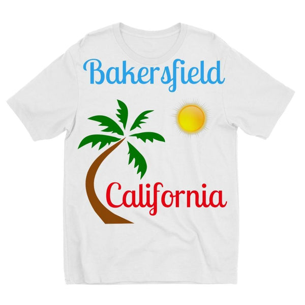 Bakersfield California Kids Sublimation T-Shirt 3-4 Years Apparel