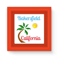 Bakersfield California Magnet Frame Red Homeware