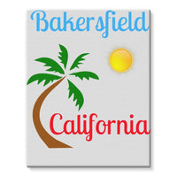 Bakersfield California Stretched Eco-Canvas 11X14 Wall Decor