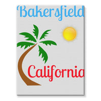 Bakersfield California Stretched Eco-Canvas 18X24 Wall Decor