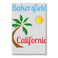 Bakersfield California Stretched Eco-Canvas 24X36 Wall Decor