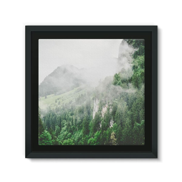 Bavarian Germany Foggy Framed Canvas 12X12 Wall Decor
