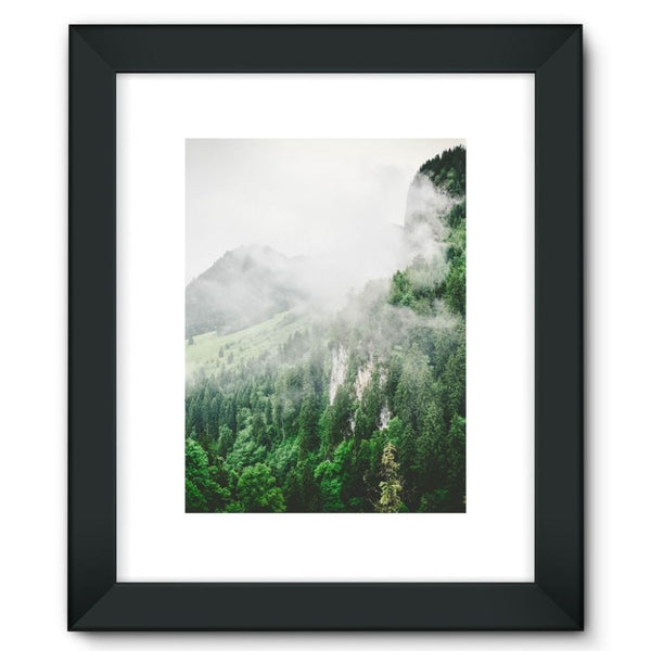 Bavarian Germany Foggy Framed Fine Art Print 12X16 / Black Wall Decor
