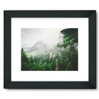 Bavarian Germany Foggy Framed Fine Art Print 16X12 / Black Wall Decor