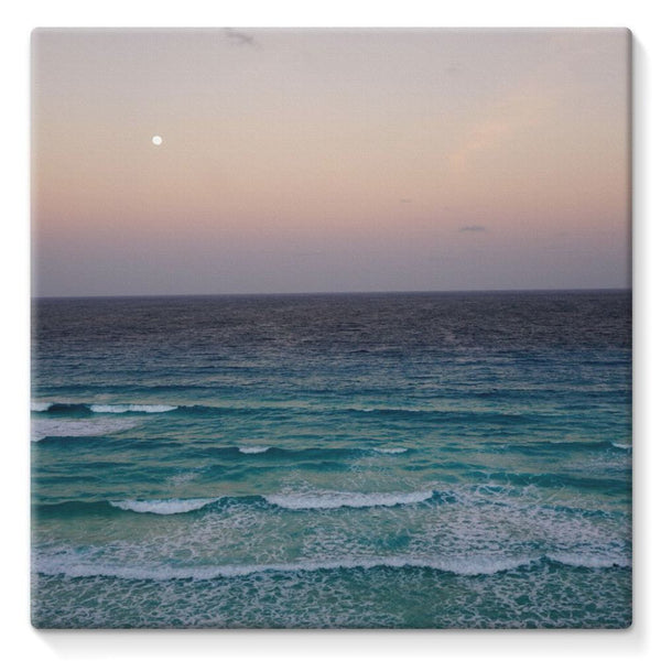 Beach And Sky At Sunset Time Stretched Canvas 10X10 Wall Decor