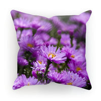 Beautiful Purple Flowers Cushion Linen / 12X12 Homeware