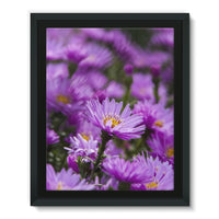 Beautiful Purple Flowers Framed Eco-Canvas 11X14 Wall Decor
