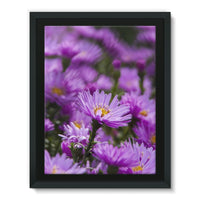 Beautiful Purple Flowers Framed Eco-Canvas 18X24 Wall Decor