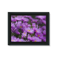 Beautiful Purple Flowers Framed Eco-Canvas 24X18 Wall Decor