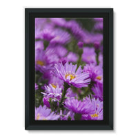 Beautiful Purple Flowers Framed Eco-Canvas 24X36 Wall Decor