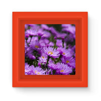 Beautiful Purple Flowers Magnet Frame Red Homeware