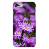 Beautiful Purple Flowers Phone Case Iphone 8 / Snap Gloss & Tablet Cases
