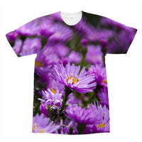 Beautiful Purple Flowers Sublimation T-Shirt Xs Apparel