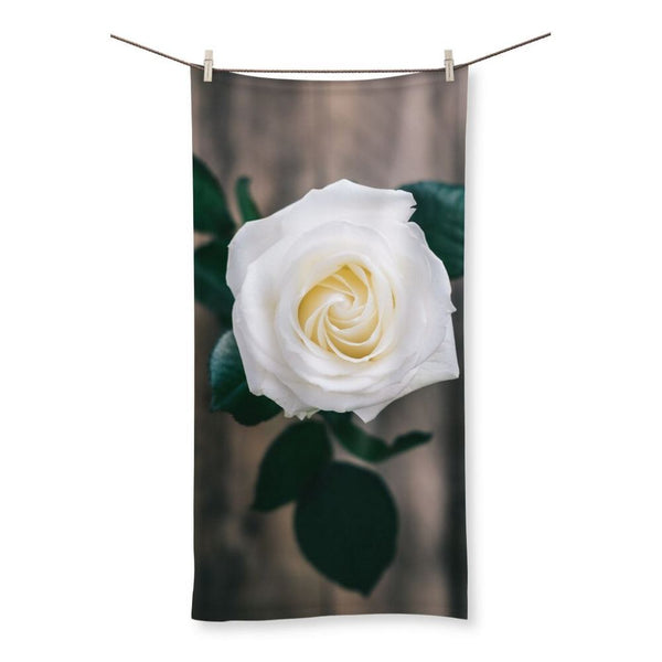 Beautiful White Rose Beach Towel 19.7X39.4 Homeware