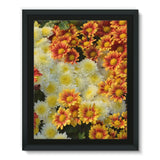 Beautifully Blooming Plants Framed Eco-Canvas 11X14 Wall Decor