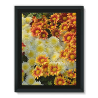 Beautifully Blooming Plants Framed Eco-Canvas 18X24 Wall Decor