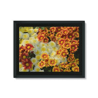 Beautifully Blooming Plants Framed Eco-Canvas 24X18 Wall Decor