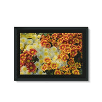 Beautifully Blooming Plants Framed Eco-Canvas 36X24 Wall Decor