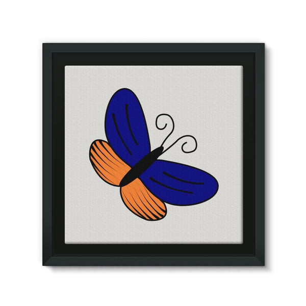Beauty Ob Butterfly Framed Eco-Canvas 10X10 Wall Decor