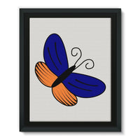 Beauty Ob Butterfly Framed Eco-Canvas 11X14 Wall Decor